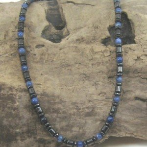 SODALITE necklace on wood