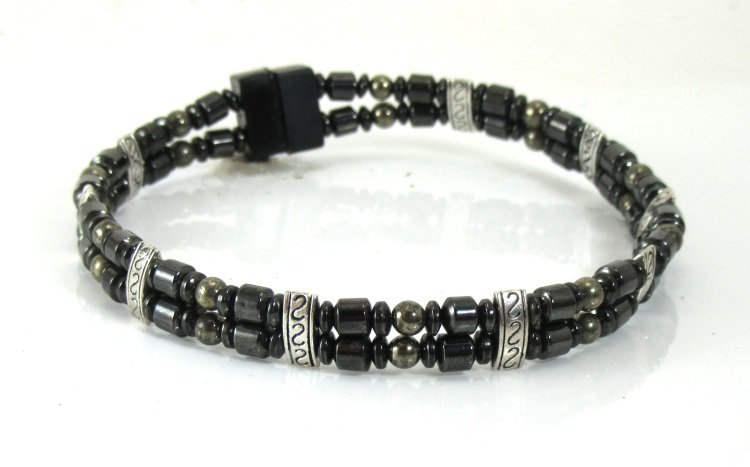 Men S Magnetic Double Anklet Uk Dave Tibetan Silver Touch Of Iron