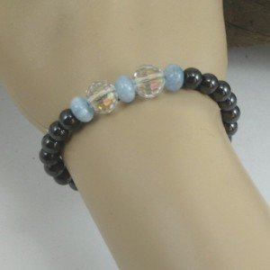 aquamarine bracelet on hand