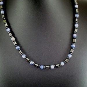 labis necklace on black bust