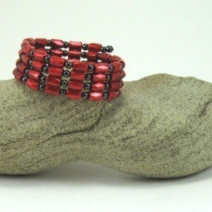 red coiled wrap